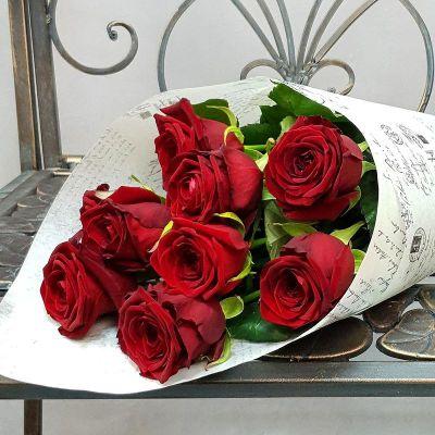 Букет из 9 бордовых роз