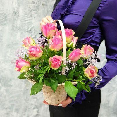 Цветочная корзина с розами Любимой