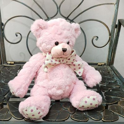 Игрушка медведь розовый 25 см