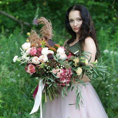 Дивный букет с пионовидной розой Джульетта. Серия Магия любви